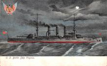 mil052230 - Military Battleship Postcard, Old Vintage Antique Military Ship Post Card