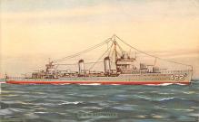 mil052231 - Military Battleship Postcard, Old Vintage Antique Military Ship Post Card