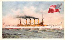 mil052236 - Military Battleship Postcard, Old Vintage Antique Military Ship Post Card