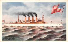 mil052237 - Military Battleship Postcard, Old Vintage Antique Military Ship Post Card