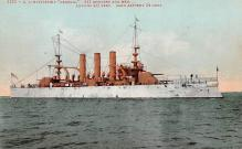 mil052242 - Military Battleship Postcard, Old Vintage Antique Military Ship Post Card