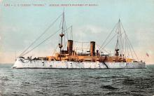mil052245 - Military Battleship Postcard, Old Vintage Antique Military Ship Post Card