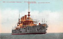 mil052246 - Military Battleship Postcard, Old Vintage Antique Military Ship Post Card