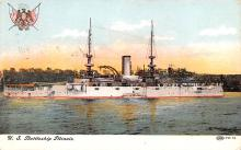 mil052247 - Military Battleship Postcard, Old Vintage Antique Military Ship Post Card