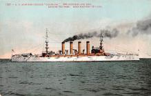 mil052248 - Military Battleship Postcard, Old Vintage Antique Military Ship Post Card