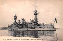 mil052255 - Military Battleship Postcard, Old Vintage Antique Military Ship Post Card