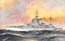 mil052256 - Military Battleship Postcard, Old Vintage Antique Military Ship Post Card