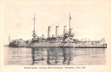 mil052277 - Military Battleship Postcard, Old Vintage Antique Military Ship Post Card
