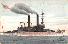 mil052278 - Military Battleship Postcard, Old Vintage Antique Military Ship Post Card