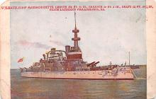 mil052299 - Military Battleship Postcard, Old Vintage Antique Military Ship Post Card