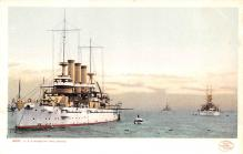 mil052311 - Military Battleship Postcard, Old Vintage Antique Military Ship Post Card