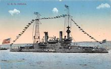 mil052314 - Military Battleship Postcard, Old Vintage Antique Military Ship Post Card