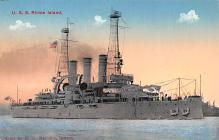 mil052315 - Military Battleship Postcard, Old Vintage Antique Military Ship Post Card