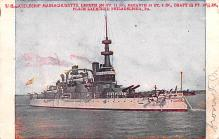 mil052318 - Military Battleship Postcard, Old Vintage Antique Military Ship Post Card