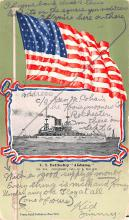 mil052338 - Military Battleship Postcard, Old Vintage Antique Military Ship Post Card