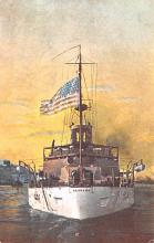 mil052345 - Military Battleship Postcard, Old Vintage Antique Military Ship Post Card