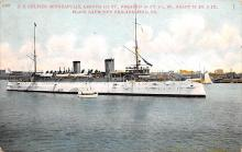 mil052378 - Military Battleship Postcard, Old Vintage Antique Military Ship Post Card