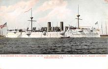 mil052395 - Military Battleship Postcard, Old Vintage Antique Military Ship Post Card