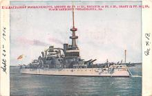 mil052397 - Military Battleship Postcard, Old Vintage Antique Military Ship Post Card