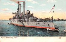 mil052401 - Military Battleship Postcard, Old Vintage Antique Military Ship Post Card