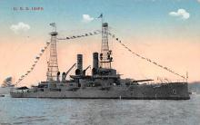 mil052402 - Military Battleship Postcard, Old Vintage Antique Military Ship Post Card