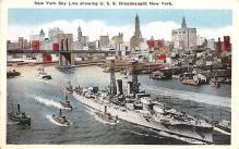 mil052403 - Military Battleship Postcard, Old Vintage Antique Military Ship Post Card