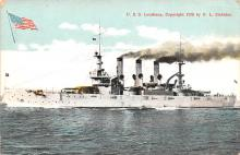 mil052404 - Military Battleship Postcard, Old Vintage Antique Military Ship Post Card