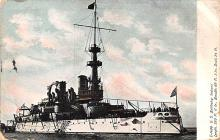 mil052405 - Military Battleship Postcard, Old Vintage Antique Military Ship Post Card