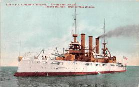 mil052406 - Military Battleship Postcard, Old Vintage Antique Military Ship Post Card