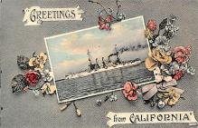 mil052407 - Military Battleship Postcard, Old Vintage Antique Military Ship Post Card