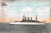 mil052425 - Military Battleship Postcard, Old Vintage Antique Military Ship Post Card