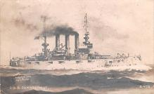 mil052440 - Military Battleship Postcard, Old Vintage Antique Military Ship Post Card