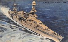 mil052441 - Military Battleship Postcard, Old Vintage Antique Military Ship Post Card