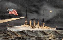 mil052443 - Military Battleship Postcard, Old Vintage Antique Military Ship Post Card