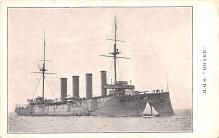 mil052449 - Military Battleship Postcard, Old Vintage Antique Military Ship Post Card
