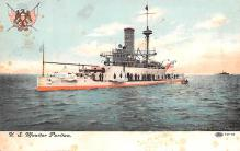 mil052451 - Military Battleship Postcard, Old Vintage Antique Military Ship Post Card