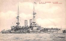 mil052457 - Military Battleship Postcard, Old Vintage Antique Military Ship Post Card