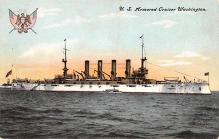 mil052458 - Military Battleship Postcard, Old Vintage Antique Military Ship Post Card