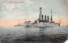 mil052461 - Military Battleship Postcard, Old Vintage Antique Military Ship Post Card