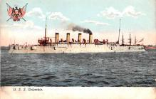 mil052467 - Military Battleship Postcard, Old Vintage Antique Military Ship Post Card