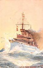 mil052470 - Military Battleship Postcard, Old Vintage Antique Military Ship Post Card