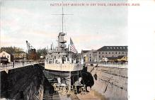 mil052477 - Military Battleship Postcard, Old Vintage Antique Military Ship Post Card
