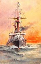 mil052487 - Military Battleship Postcard, Old Vintage Antique Military Ship Post Card