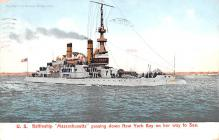 mil052489 - Military Battleship Postcard, Old Vintage Antique Military Ship Post Card