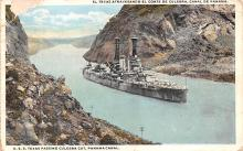 mil052490 - Military Battleship Postcard, Old Vintage Antique Military Ship Post Card