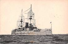 mil052492 - Military Battleship Postcard, Old Vintage Antique Military Ship Post Card