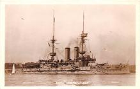 mil052495 - Military Battleship Postcard, Old Vintage Antique Military Ship Post Card