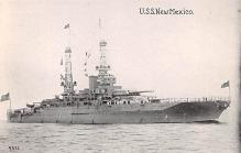 mil052502 - Military Battleship Postcard, Old Vintage Antique Military Ship Post Card