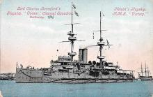 mil052504 - Military Battleship Postcard, Old Vintage Antique Military Ship Post Card