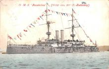 mil052508 - Military Battleship Postcard, Old Vintage Antique Military Ship Post Card